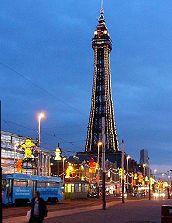 Symbol Blackpoolu - The Tower. Inspirace Petřínskou rozhlednou je zřejmá :-)